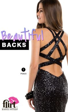 Prom Dress Trend: Beautiful backs #prom #lbd #sequin #sparkle