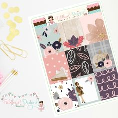 """New Release Collection! The Chic Autumn Kit can be found in the """"Build a Kit"""" section. Pick from 5 coordinating sheets to build your perfect kit! 🌸🍁"""