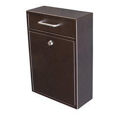 Epoch Design Locking Drop Box Wall Mounted Mailbox, Bronze Mail Boss http://www.amazon.com/dp/B00T1G9B9U/ref=cm_sw_r_pi_dp_Wj-.wb1GQZVSR