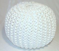 Pattern knitted pouf