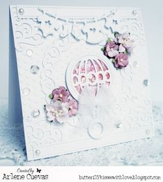 August 2015 New Release Day 3! From our Design Team! Card by Arlene Cuevas featuring these NEW Dies - Baby Rattle, Baby Clothesline Banner, Scroll Corner, Koi Circle (Set of 3) :-) Shop for our NEW products here - shop.lalalandcrafts.com More Design Team inspiration here - http://lalalandcrafts.blogspot.ie/2015/08/new-release-showcase-august-2015-day-3.html