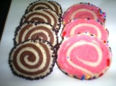 Chocolate and Strawberry Pinwheel Cookies | www.BakingInATornado.com