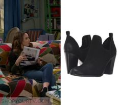 """Young & Hungry: Season 5 Episode 5 Sofia's Black Cut out Boots 