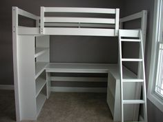 bookcase with built in desk - Google Search