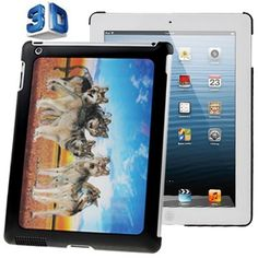 For+iPad+4/3/2+3D+Effect+Style+Wolves+Pattern+Plastic+Case