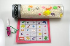 Children's I Spy Bottle- Seek and Find Bottle. Early learning fun to help build language development and attention span. Great for travel! - pinned by pin4etsy.com