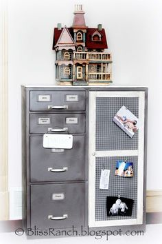 Old Metal File Cabinet