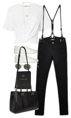 """""""Untitled #10731"""" by nikka-phillips ❤ liked on Polyvore featuring FOSSIL, T By Alexander Wang, CourtShop, Common Projects, NLY Accessories, Ray-Ban and Mulberry"""