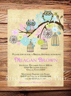 Owls Vintage Birdcage Invitation Vintage by StellarDesignsPro, $21.00