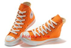 c9ab2894420e New Overseas Converse New Color Orange Dazzling Chuck Taylor All Star High  Tops Canvas For Women