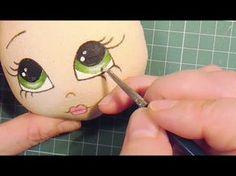 Risultati immagini per carita muneca Doll Face Paint, Doll Painting, Clay Pot Crafts, Foam Crafts, Sewing Dolls, Doll Eyes, Doll Tutorial, Soft Dolls, Fabric Dolls