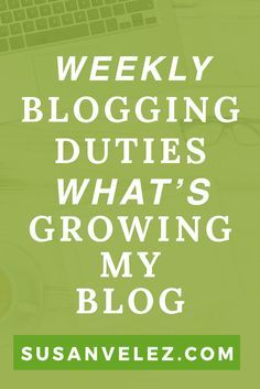 Starting a blog for money is challenging. We all want a different life, but how do you get started writing a post. Not to mention how do you set up a schedule you can follow to create the life you want?  https://susanvelez.com/weekly-blogging-duties/