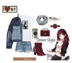 """Street Style"" by pamelagraf ❤ liked on Polyvore featuring T By Alexander Wang, Dolce&Gabbana, Jimmy Choo, Kate Spade, Italia Independent, Nine West, MANGO, Yves Saint Laurent and DutchCrafters"