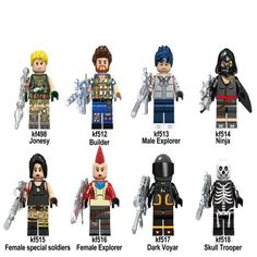 8 psc setfortnite season 5 mini figures toys fortnite battle royale toys blocks fortnite - zazinombies lego fortnite
