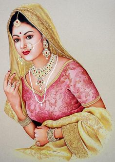 Beautiful Rajasthani Painting.