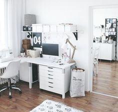 Home office and workspace ideas and inspiration for entrepeneurs who work from home