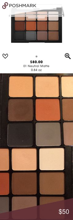 VISEART EYESHADOW PALETTE ~ 01 NEUTRAL MATTE VISEART EYESHADOW PALETTE ~ 01 NEUTRAL MATTE ~ SCUFFS ON OUTSIDE OF PALETTE (PLEASE SEE LAST PIC) ~ % AUTHENTIC ~ NO BOX ~ LIGHTLY SWATCHED Viseart Makeup Eyeshadow