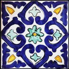 Ceramics - Italian pottery - Mattonaccio tile - Berenice - | Touch of Sicily - Italy
