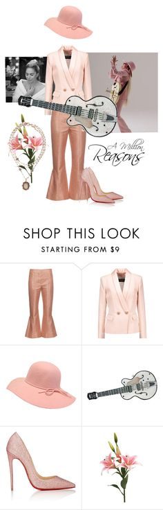 """Lady Gaga Style ~ A Million Reasons"" by flippintickledinc ❤ liked on Polyvore featuring Marni, Balmain, Judith Leiber, Christian Louboutin and Virgins Saints & Angels"