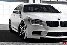 Lexani Wheels, the leader in custom luxury wheels.  Color matching LZ-105 wheels on the 2014 BMW M5.