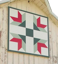 Goose Tracks I'd love to make this Huge Barn Quilt  at www.americanbarnquilts.com with it looking like it was done with fabric