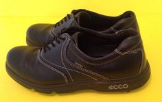 Womens ecco Gore-Tex Leather Golf Shoes Sz 40/9 Black Spikes #ECCO #Cleats