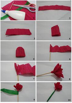 Galera Fashion: D.i.y.: Flor de papel crepom