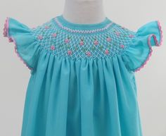Use COUPON Stunning smocked Spring Easter dress szs by handsmocked Smocking Plates, Rajputi Dress, Heirloom Sewing, Little Girl Outfits, Easter Dress, Smock Dress, Baby Dress, Dress Making, Smocked Clothing