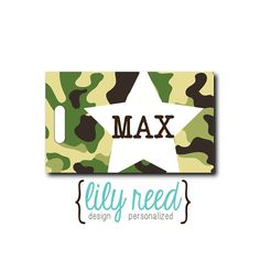 Hey, I found this really awesome Etsy listing at https://www.etsy.com/listing/104543654/camo-starpersonalized-luggage-bag-tag