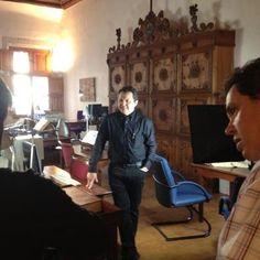 """First shooting of """"Conexión Junípero"""" in Majorca. Coming soon this fall on tv. #juniper300 #ib3 #tve #latinoheritage #queretaro #majorca2013 #marcaespaña"""