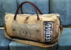 Up Cycle Washed/Waxed Canvas Duffel Bag, Duffle Bag, Weekender Bag With Genuine Leather Handle & Han Brown Leather Backpack, Black Tote Bag, Leather Briefcase, Leather Shoulder Bag, Waxed Canvas, Canvas Leather, Cowhide Leather, Men's Leather, Leather Jacket