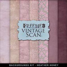 Freebies Background Kit - Heather Honey