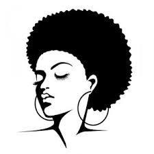 black and white afro
