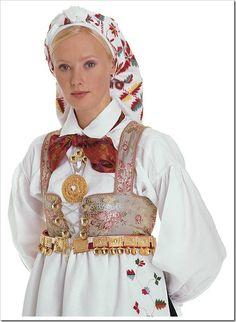 Bilderesultat for vestagder bunad Traditional Dresses, Traditional Art, Viking Art, Folk Costume, My Heritage, People Of The World, World Cultures, Vintage Costumes, Norway