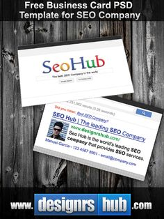 8 best business cards images on pinterest business cards carte de todays exclusive freebie is a free template of business card available in psd format dedicated to all seo gurus companies and specialists and so on wajeb Gallery
