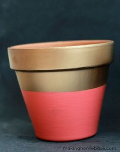 Spring Has Sprung: Painted Flower Pots   Making Home Base