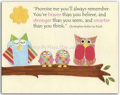 Nursery Wall Art Print, baby girl room, owl..Promise me...Winnie the Pooh..twin girls SCRAPBOOK PAPER???