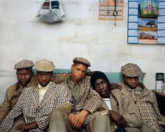 Loyiso Mayga, Wandise Ngcama, Lunga White, Luyanda Mzantsi, Khungsile Mdolo after their initiation ceremony, Mthatha, from the series Kin by Pieter Hugo