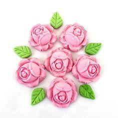 Confeito de Açúcar Rosa Forma de Lado Ref. 236 c/ 12 peças Jady- Loja Santo Antonio
