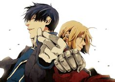 Fullmetal Alchemist- Mustang and Ed Two of my favorite characters... actually, I loved them all.