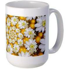 Fractal Daisy Glow Spiral. Mugs> Fractal Daisy's Glow Spiral> Rosemariesw Digital Designs #Mugs