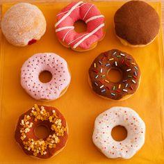 Felt Gourmet Donut SMALL Breakfast Set - Wool and Wool Blend Felt  - Pretend Play Food. $45.00, via Etsy.
