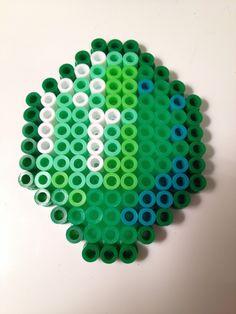 Minecraft Emerald Perler Bead by NerdChristmas on Etsy Minecraft Pattern, Hama Beads Minecraft, Minecraft Crafts, Easy Perler Bead Patterns, Pony Bead Patterns, Beading Patterns, Perler Beads, Perler Bead Art, Pearl Beads Pattern