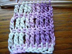 Tunisian Crochet Crochet For Children: Triple Crochet Tunisian Simple Stitch Stitch Crochet, Bag Crochet, Crochet Crafts, Crochet Hooks, Crochet Projects, Tunisian Crochet Patterns, Knitting Patterns, Loom Knitting, Knitting Stitches