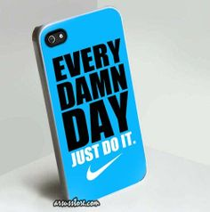 Nike Every Damn Day Just Do It Blue for Apple iPhone Case 5/5S/5C 4/4S