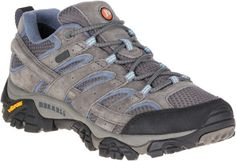 Merrell Women's Moab 2 WP Low Hiking Shoes Granite 8.5 Wide