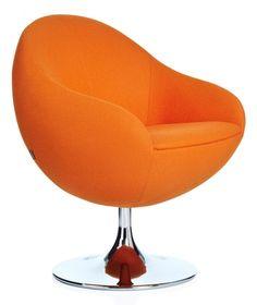 Contemporary orange seating