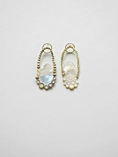 Earrings by Danni Schwaag - mother of pearl, gold