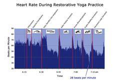 Heart rate during restorative yoga practice