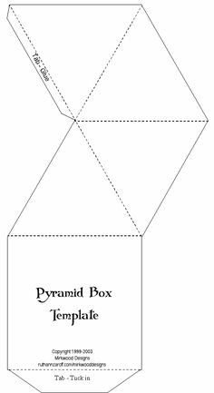 printable #templates.......Pyramid Box Template